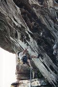 Rock Climbing Photo: Ro Shampo 5.11d flash summer 2002
