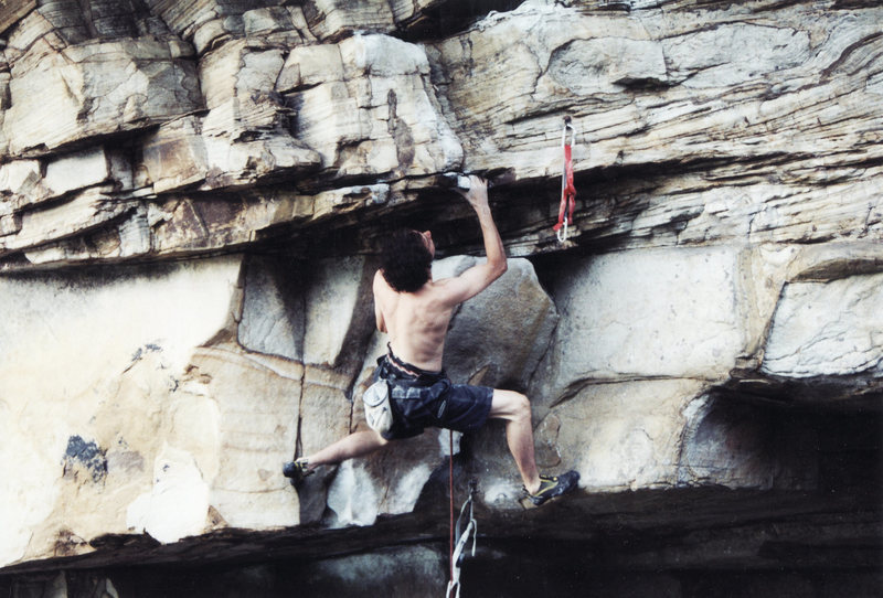 Rock Climbing Photo: Just after the kneebar low on Apollo Reed.  There ...