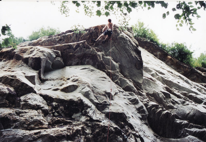 Rock Climbing Photo: High on Apollo Reed pulling the final horizontal r...