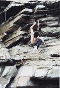 Rock Climbing Photo: This big shouldery gaston move on a pistol grip ho...