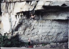 Rock Climbing Photo: Beginning Apollo Reed with Deborah Henny on belay.