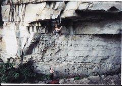 Rock Climbing Photo: Beginning Apollo Reed with Deborah Henny on belay.