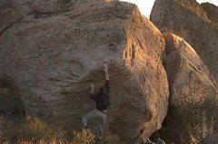 Rock Climbing Photo: Brute project, post breakage. Stand start. Close, ...