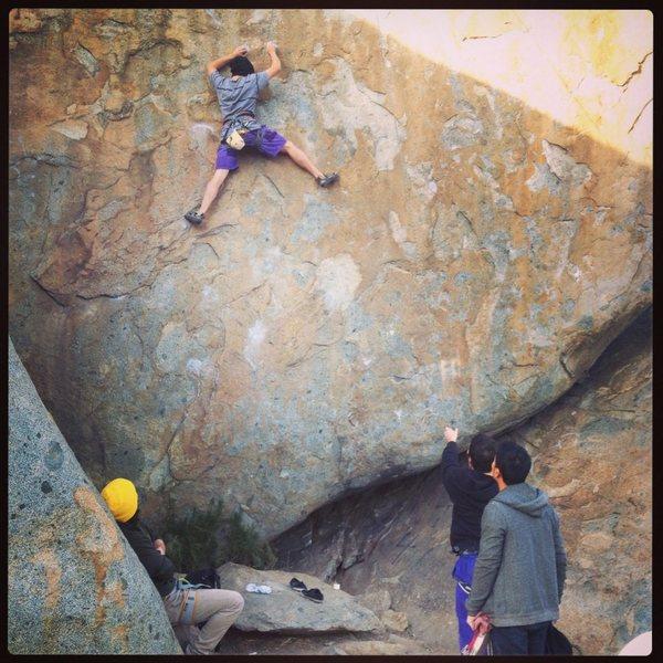 Rock Climbing Photo: Toprope on Dogpile 5.12