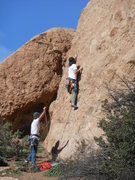 "Rock Climbing Photo: Cimber working up the start of ""Slotterhouse...."
