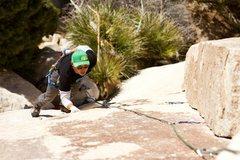 Rock Climbing Photo: Joshua Tree National Park, Ca  Heart and Sole 10a,...