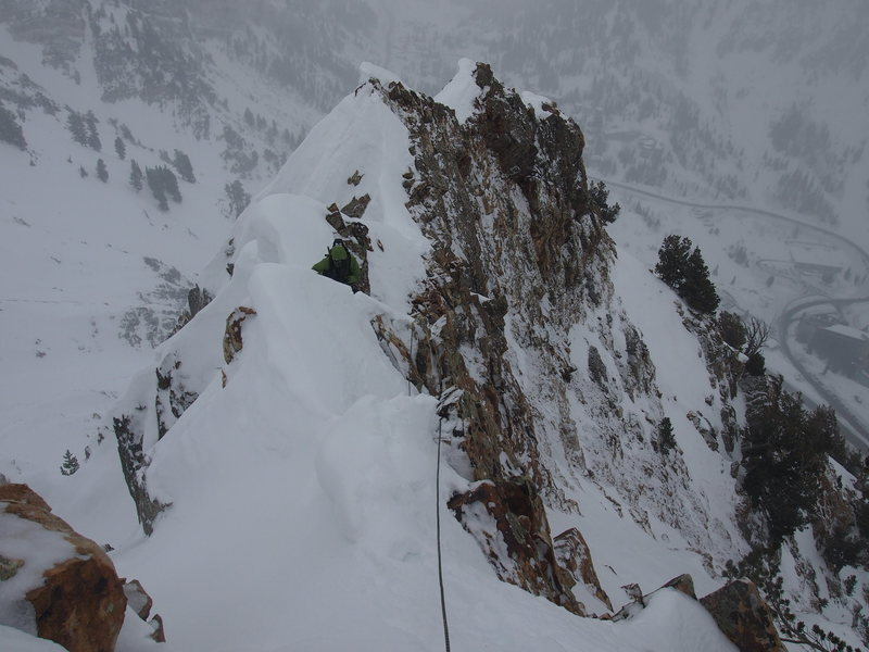 Mooner on one of the knife-edge sections