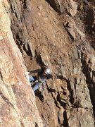 Rock Climbing Photo: Clay Kennedy pulling on of the several bulges.