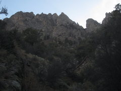 Rock Climbing Photo: Approach from Pine Tree Trail