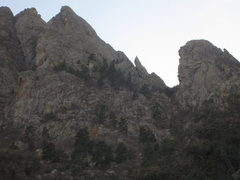 Rock Climbing Photo: As seen form the Spire approach gully. The 6th Low...