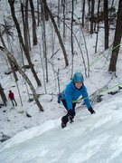 Rock Climbing Photo: Alysia C. on her first ice climb.