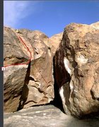Rock Climbing Photo: Gumby Traverse top out is route #1 in photo.