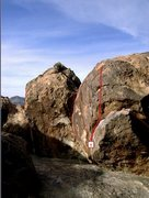 Rock Climbing Photo: Gumby Direct is route #1 in photo.