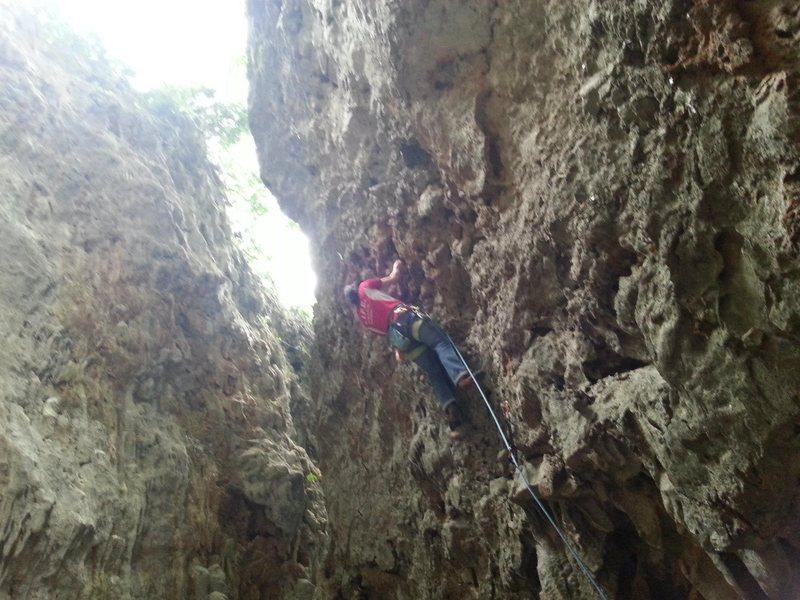 climb in Laos