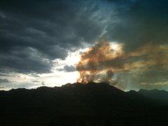 Rock Climbing Photo: Flagstaff Fire, Bear Peak, 2012.