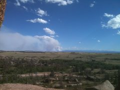 Rock Climbing Photo: High Park fire from the Woo June 2012. I saw this ...