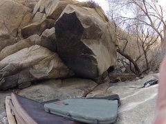 Rock Climbing Photo: lower kern river canyon bouldering: Sentient V7