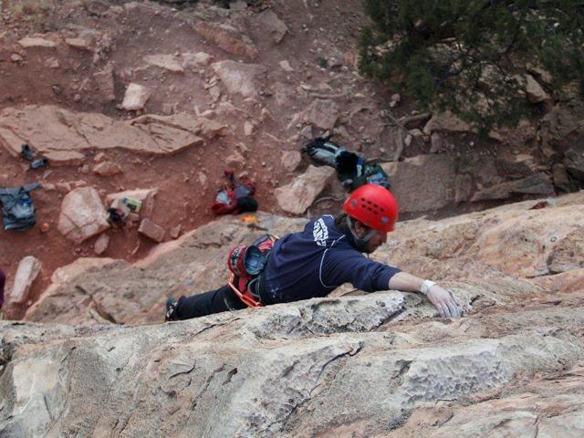 Rock Climbing Photo: 10d Cactus Cliff...Hangers