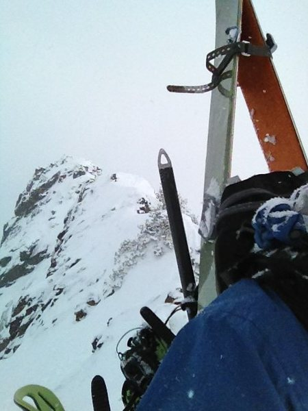 Splitboarding on Mt. Superior. 2/9/13