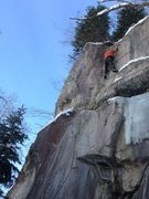 Rock Climbing Photo: Close to the chains.   BETA - Torque the glory hol...