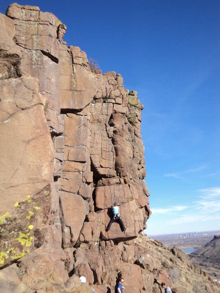Mary gets into the nice traverse.