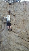 Rock Climbing Photo: Above the crux.