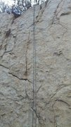 Rock Climbing Photo: Looking up at route 2. You can see route 1 and 3 t...