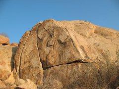 Rock Climbing Photo: Half Dome Boulder, Mt. Rubidoux