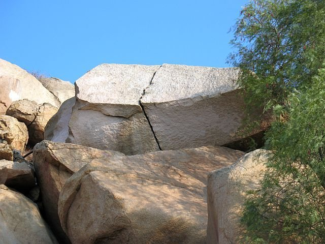 The Cheater Overhang (V0), Mt. Rubidoux