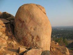 Rock Climbing Photo: Pink Boulder, Mt. Rubidoux
