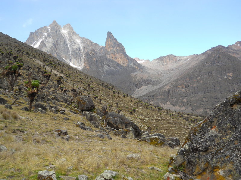 January 29, 2013<br> Batian, Nelion, and the Diamond Couloir (dry)