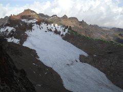 Rock Climbing Photo: Pt Lenana (16,355'), Lewis Glacier A new via-ferra...