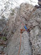 Rock Climbing Photo: The bottom anchor is in the start finger/hands cra...