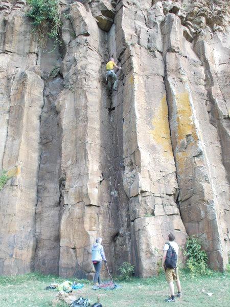Rock Climbing Photo: Stake 5, lowering off