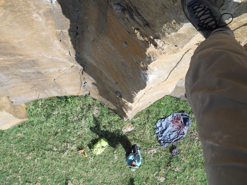 Rock Climbing Photo: The sport route arete
