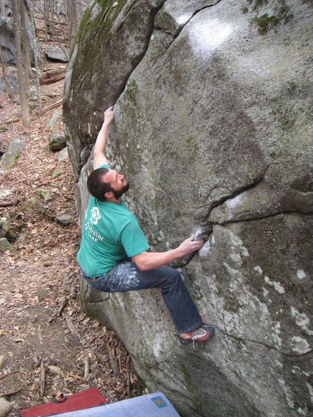 Rock Climbing Photo: Deadlift, Mt Yonah, GA