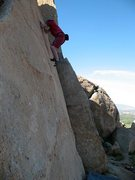 Rock Climbing Photo: Triangle Face (V1), Mt. Rubidoux