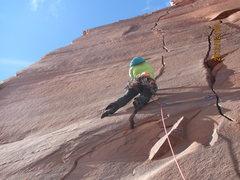Rock Climbing Photo: The amazing hand crack transition!