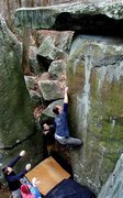 Rock Climbing Photo: Drew sends Iron Lion (v7) at Nockamixon, PA. Novem...