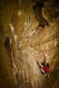 Rock Climbing Photo: Chris on lead at Bruise Brothers.. Red River Gorge...