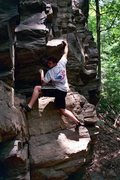 Rock Climbing Photo: Messing around on highballs at High Rocks. July 20...