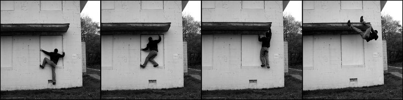 Abandoned buildering at an undisclosed location. NY. November 2007.