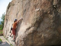Rock Climbing Photo: Flight of the Bumble Bee (V4), Mt. Rubidoux