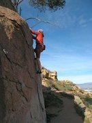 Rock Climbing Photo: Beehive Crack (V-easy), Mt. Rubidoux