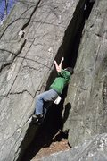 Rock Climbing Photo: Little Dave showing lesser mortals how to work the...
