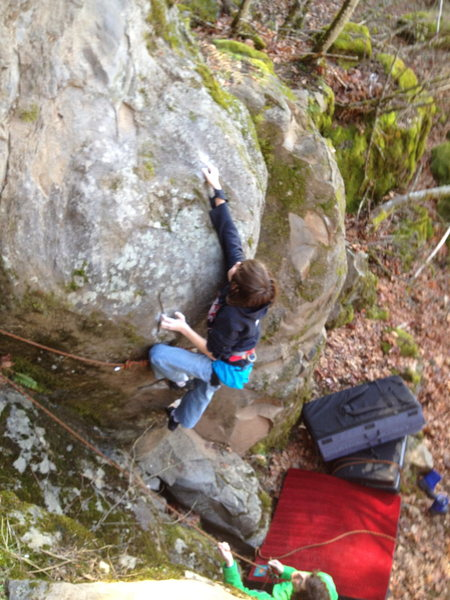 Rock Climbing Photo: Dominator V3  FA Ashton Hoomans