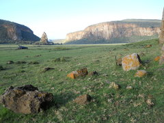 Rock Climbing Photo: HELL'S GATE NP Photo taken from the base of the &q...