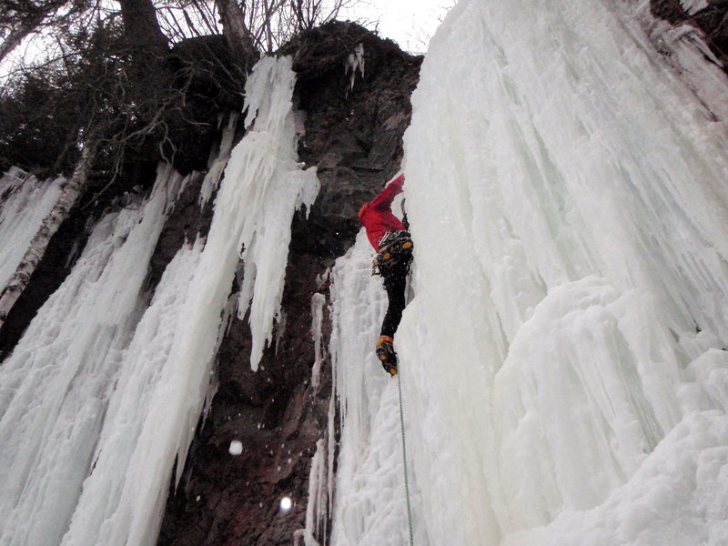 "Rock Climbing Photo: Carter Stritch on some ""sea ice"""