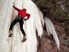 Rock Climbing Photo: Carter Stritch - The Curtain at Gooseberry Falls