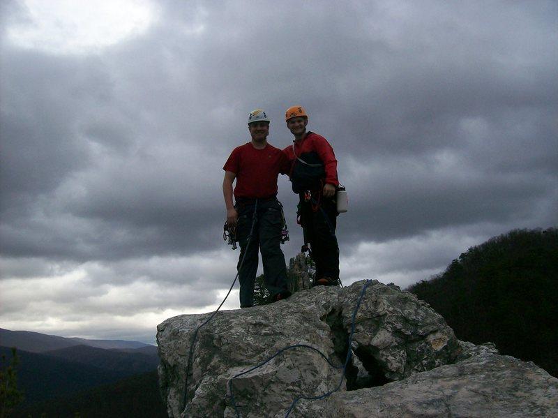South summit of Seneca Rocks.